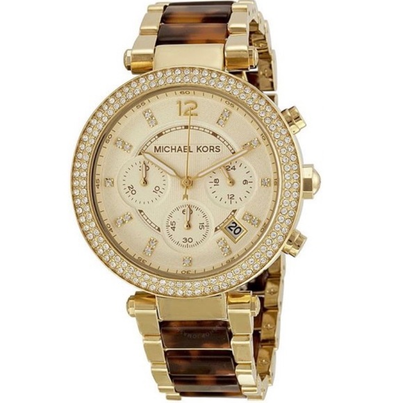 Gold And Tortoise Michael Kors Parker Watch Nwt/New by Michael Kors